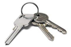 Tre tasti dell'appartamento con l'anello Immagine Stock Libera da Diritti