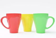 Tre tazze Fotografia Stock