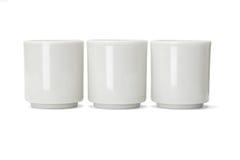 Tre tazze di tè cinesi della porcellana Immagine Stock