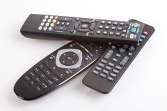 Tre telecomandi Immagini Stock Libere da Diritti