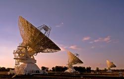 Tre telescopi compatti di schiera Fotografia Stock Libera da Diritti
