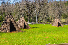 Tre tepee indiani americani Fotografia Stock Libera da Diritti