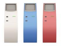 Tre terminali di pagamento di colore differente per la vostra progettazione 3d Immagine Stock Libera da Diritti