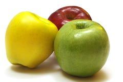 Tre tipi di mele Fotografia Stock Libera da Diritti