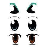 Tre tipi di occhi royalty illustrazione gratis