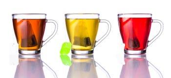 Tre tipi di tè Immagini Stock Libere da Diritti