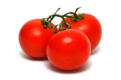 tre tomater Arkivbilder
