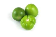 Tre Tomatillos verde. fotografia stock libera da diritti