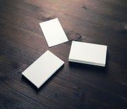 Tre tomma affärskort arkivbilder