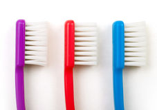 Tre toothbrushes Immagine Stock