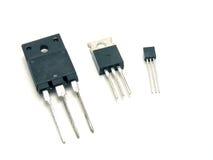 Tre transistori Fotografie Stock Libere da Diritti
