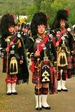 Tre trummar ha som huvudämne, Braemar, Skottland arkivbild