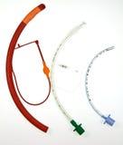 Tre tubi endotracheali di vari disegni Immagini Stock Libere da Diritti
