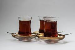 Tre turkiska teexponeringsglas Royaltyfri Foto