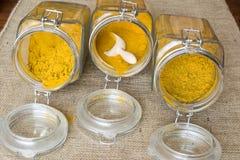 Tre typer av curry Royaltyfri Foto