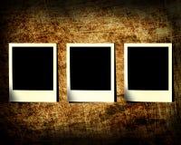 Tre una trasparenza della foto su una priorità bassa del grunge Immagine Stock Libera da Diritti