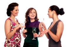 tre unga kvinnor Royaltyfri Fotografi