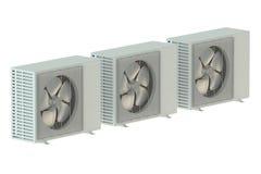 Tre unità del condizionatore d'aria immagini stock