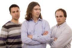 Tre uomini Fotografie Stock