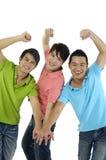 Tre uomini Fotografie Stock Libere da Diritti