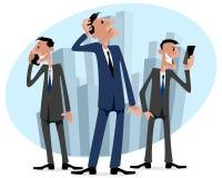 Tre uomini d'affari nella città Fotografia Stock