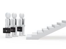 Tre uomini d'affari per le scale Fotografie Stock