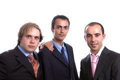 Tre uomini positivi di affari Fotografia Stock Libera da Diritti