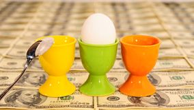 Tre uova Immagini Stock