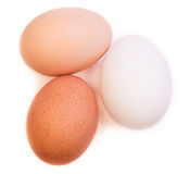Tre uova immagine stock