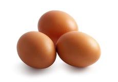 Tre uova Immagini Stock Libere da Diritti