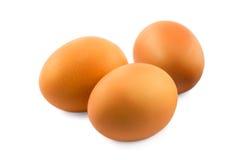 Tre uova Fotografia Stock
