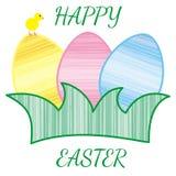 Tre uova colorate Fotografia Stock