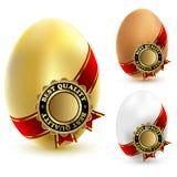 Tre uova del pollo Immagini Stock