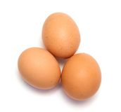 Tre uova del pollo immagini stock libere da diritti