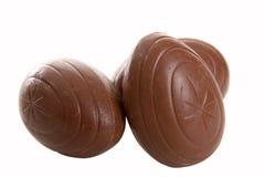 Tre uova di cioccolato Fotografia Stock