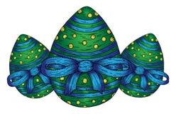 Tre uova di Pasqua Fotografia Stock Libera da Diritti