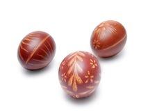 Tre uova di Pasqua Immagini Stock