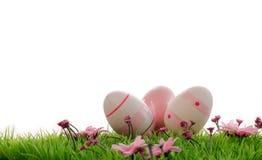 Tre uova di Pasqua Fotografie Stock Libere da Diritti