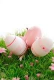 Tre uova di Pasqua Immagini Stock Libere da Diritti