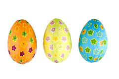 Tre uova di Pasqua Immagine Stock