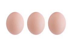 Tre uova (isolate) Immagini Stock Libere da Diritti
