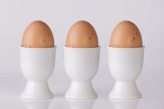 Tre uova sode Fotografia Stock