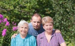 Tre utvecklingar av familj Arkivbilder