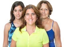 Tre utvecklingar i en familj av latinamerikanska kvinnor Royaltyfria Foton