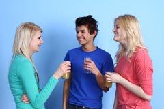 Tre vänner Arkivfoto