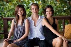 Tre vänner royaltyfria foton