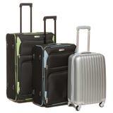 Tre valigie di corsa Immagini Stock Libere da Diritti