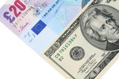 Tre valute importanti - alto vicino Immagini Stock