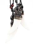 Tre vargs halsband för huggtandefterföljd Royaltyfri Bild