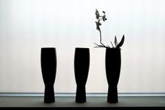 tre vases Arkivfoto